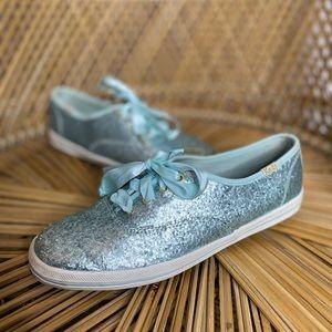 Keds x Kate Spade | Blue glitter sneakers | sz 5.5